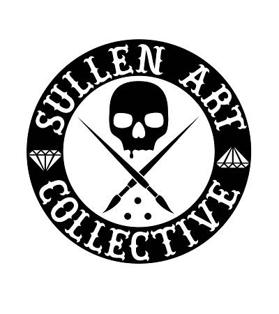 Sullen Clothing Switzerland online shop for tattoo artist and fan equipement shirt lanyard wallet kleider bag tasche Sullen Art Collective Die Cut gross blk