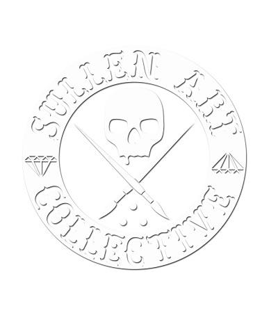 Sullen Clothing Switzerland online shop for tattoo artist and fan equipement shirt lanyard wallet kleider bag tasche Sullen Art Collective Die Cut gross wht