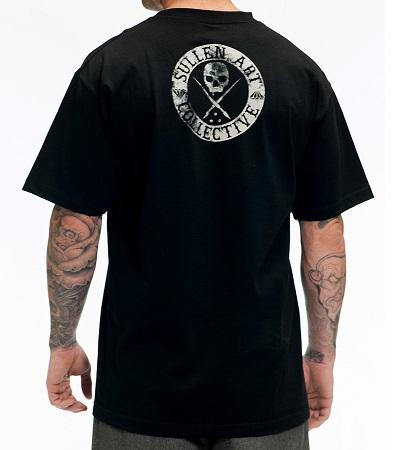 Badge of Honor BLAQ Sullen Clothing Switzerland cap hat tshirt t-shirt tank top shirt skull badge muerta catarina ink tattoo bullets carbon black white. back
