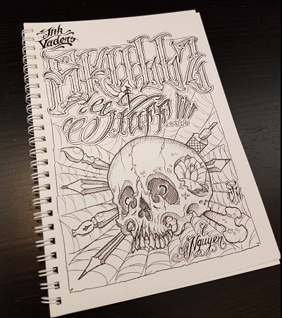 Skullz & Stuff Christian Nguyen Sullen Clothing Switzerland online shop for tattoo artist and fans equipement maschine grip covers tubes red silver black