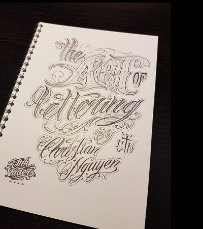 The Art of Lettering Christian Nguyen Sullen Clothing Switzerland online shop for tattoo artist and fans equipement maschine grip covers tubes red silver