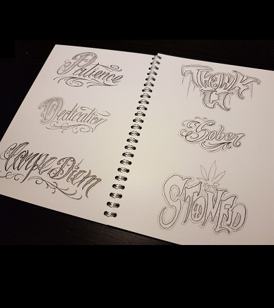 The Art of Lettering Christian Nguyen Sullen Clothing Switzerland online shop for tattoo artist and fans equipement maschine grip covers tubes red silver open