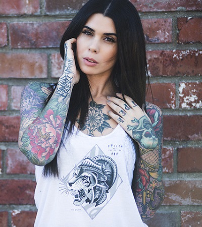 Tiger Tank Top women Sullen Clothing Switzerland cap hat tshirt t-shirt tank top shirt skull badge muerta catarina ink tattoo bullets carbon black white fra background