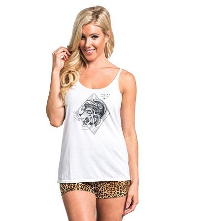 Tiger Tank Top women Sullen Clothing Switzerland cap hat tshirt t-shirt tank top shirt skull badge muerta catarina ink tattoo bullets carbon black white fra