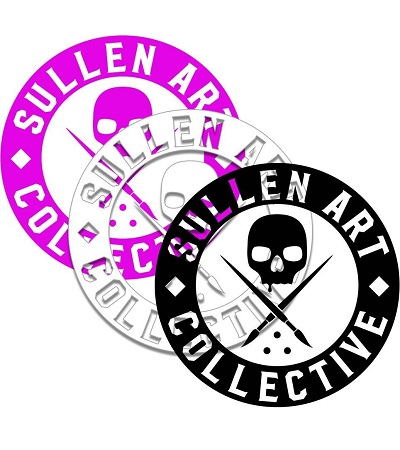 Sullen Sticker neu Art collective mit neuer schrift Sullen Clothing tattoo artist and fan equipement shirt lanyard wallet kleider bag tasche Sullen Art