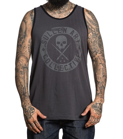 Badge of Honor Tank SCM1887 Sullen Clothing Swiss Switzerland Gry