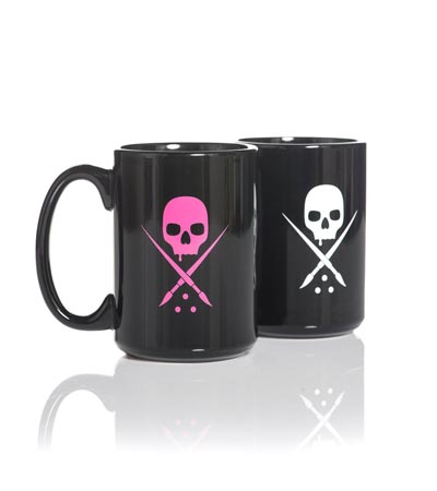 Kaffeetasse coffee mug Sullen Clothing Switzerland pink & black SCA0102