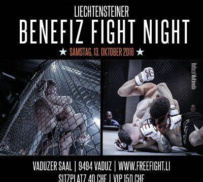 Benefiz Fight Night 2018 in Liechtenstein im Vaduzer Saal. Wir sind dabei und haben unsere neusten Trends von Sullen Clothing und Yakuza Schweiz dabei!