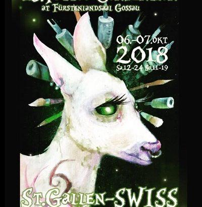 Tattoo Convention St. Gallen 2018 wir sind wieder dabei! Besucht uns doch am 06.10 - 07.10. im Fürstenlandsaal in Gossau. Wir freuen uns auf euch.